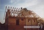 Montáž sedlové střechy